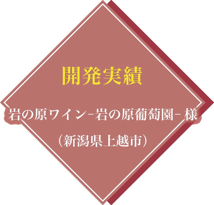 開発実績:岩の原ワイン-岩の原葡萄園- 様(新潟県上越市)